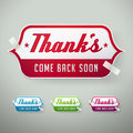 Vector thank you labels Stock Photography
