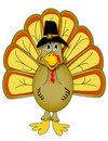 Vector Thanksgiving Turkey  Royalty Free Stock Image