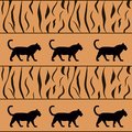 Vector tiger background silhouette Royalty Free Stock Photography