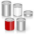 Vector tincan set eps separated by groups and layers for easy edit Royalty Free Stock Photography
