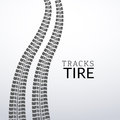 Vector tire tracks on white isolated elements for design Royalty Free Stock Photo