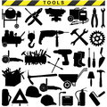 Vector tool pictograms on white background Stock Photography