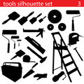 Vector tools silhouette set Stock Photos