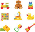 Title: Vector toy icons. Baby toys