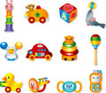 Vector toy icons. Baby toys Stock Photography