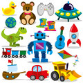 Vector toy set a colorful of cartoon toys Royalty Free Stock Photo