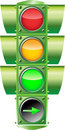 Vector Traffic Light Stock Image