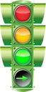 Vector Traffic Light Royalty Free Stock Photo