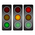 Vector traffic light Stock Photos