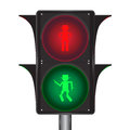Vector of traffic light with cowboy illustration Stock Photography