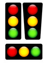 Vector traffic lights Royalty Free Stock Photo