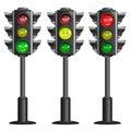 Vector traffic lights