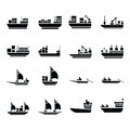 Vector transport boat Icons