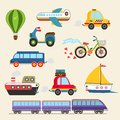 Vector transport set isolated hand drawn illustration Stock Photography