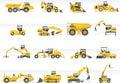 Vector transportation icon set. Tractors Royalty Free Stock Photo
