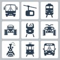 Vector transportation icons isolated set Stock Image