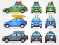 Vector Travel Cars - Side - Fr...