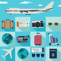 Vector travel illustrations Royalty Free Stock Photo