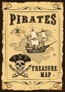 Vector Treasure Map with lots of decoration hand drawn with incredible