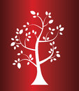 Vector tree on christmas style gradient background Royalty Free Stock Photo