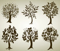 Vector tree from flowers Royalty Free Stock Photos