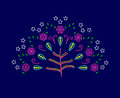 Vector Tree Of Love With Abstr...