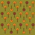 Vector trees pattern Royalty Free Stock Photo