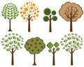 Vector trees set 2 Stock Image