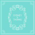 Vector trendy linear frame with copy space for text wedding invitation design template decorative background greeting card in Royalty Free Stock Photography