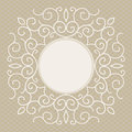 Vector trendy linear frame with copy space for text wedding invitation design template decorative background greeting card in Stock Images