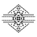 Vector tribal black and white decorative pattern for design. Aztec ornamental style Royalty Free Stock Photo