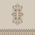 Vector tribal decorative pattern with border for design and fashion. Aztec ornamental style Royalty Free Stock Photo