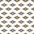 Vector tribal seamless pattern. Modern boho stylish texture. Geometric ethnic ornament with rhombuses.