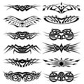 Vector tribal tattoo set Stock Photo