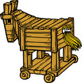 Vector Trojan Horse Royalty Free Stock Photography