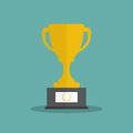 Vector Trophy Cup Flat Icon. Vector illustration eps10