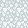 Vector tropical gray white flowers seamless repeat pattern background design. Great for summer party invitations, fabric Royalty Free Stock Photo