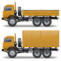 Vector trucks set on white background Royalty Free Stock Photography