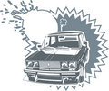 Vector tuning Lada car Royalty Free Stock Images