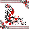 Vector ukrainian pattern traditional with guelder rose Royalty Free Stock Images