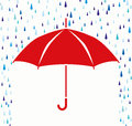 Vector umbrella protection from rain drops symbol of Royalty Free Stock Photos