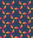 Vector umbrellas. Abstract seamless pattern design
