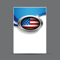 Vector united states flag poster template eps Royalty Free Stock Photo