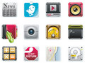 Vector universal square icons. Part 2 (white) Royalty Free Stock Photography