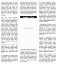 Vector unsharp newspaper with empty place for your text or advertisement Stock Images