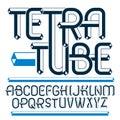 Vector upper case modern alphabet letters, abc set. Artistic reg