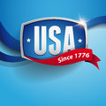 Vector usa badge poster united states of america Stock Images