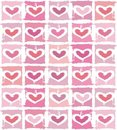 Vector valentine background with heart Royalty Free Stock Photos