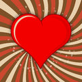 Vector valentine background red heart Stock Image