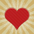 Vector valentine background red heart Stock Images
